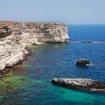 Балка-бухта Большой Кастель в Крыму, Тарханкут: фото, как добраться, отдых
