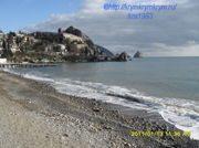 Пляж Гуровские камни в Гурзуфе: на карте, фото, описание